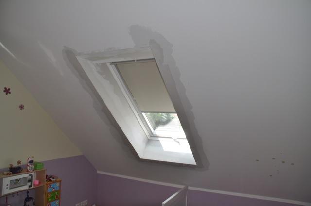 Dachfenster in der Dachschräge eingebaut