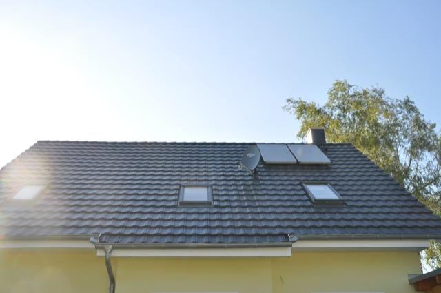 Satteldach mit neuem Dachfenster