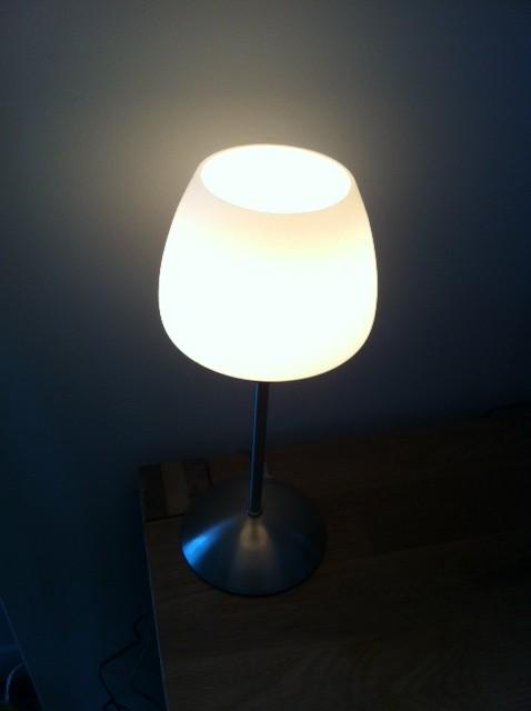 Toschlampe mit seichtem warmen Licht