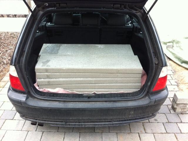 Rasenboard aus Beton (statt einfacher Rasenkanten)