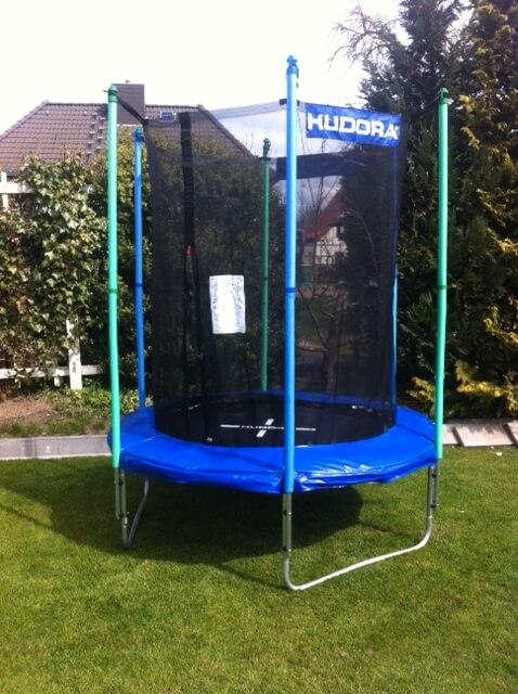 Gartentrampolin Hudora 200cm mit Sicherheitsnetz