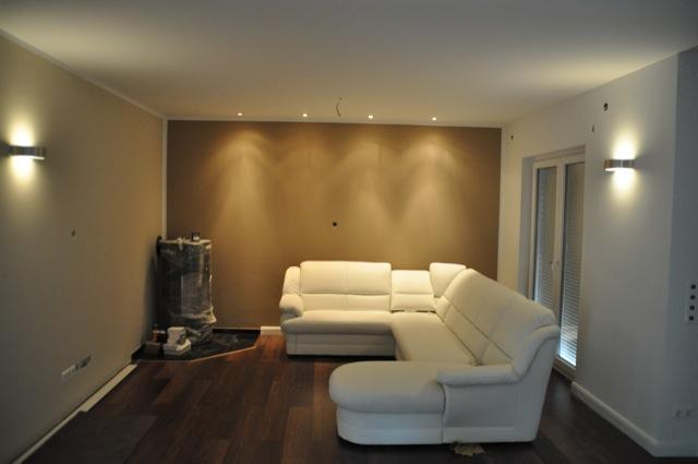 Planung der Lampen und Licht im Wohnzimmer