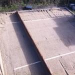 Terrasse abziehen - Vorbereitung für Pflasterarbeit mit Pflastersteine