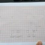 Skizze für die Maße vom Zaun nach der Vermessung