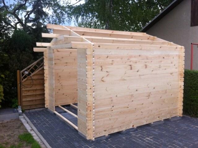 Aufbau des Gartenhaus - Dachkonstruktion