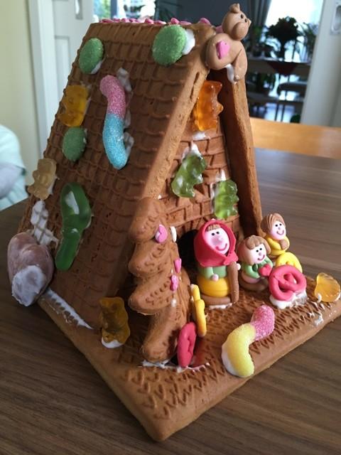 Unser Pfefferkuchenhaus an Weihnachten