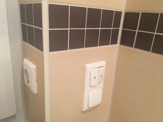 Schalter für den Ventilator - Taster für den Badezimmer-Lüfter