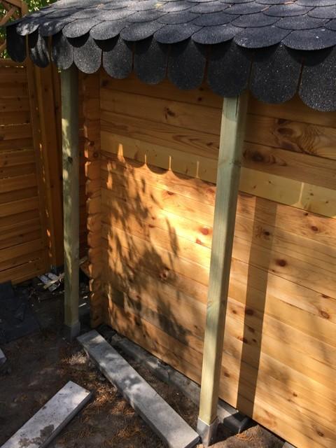 Keine Befestigung des Schleppdach am Gartenhaus