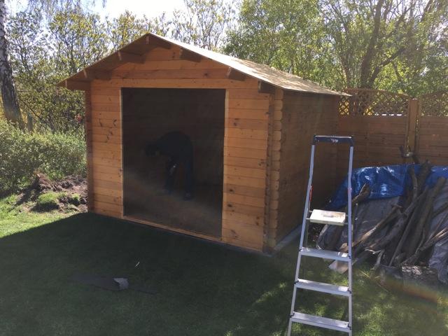 Aufbau Gartenhaus nach Umzug