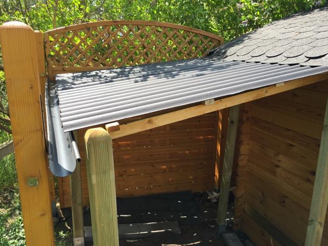 Fabulous Schleppdach am Gartenhaus selber bauen – günstiger Holzunterstand NV73
