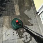 Hochdruck-Terrassenreiniger mit Bürste