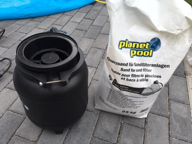 Quarzsand für die Sandfilteranlage - 1 Beutel ist ausreichend