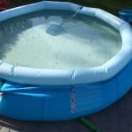Reinigung Gartenpool /Schwimmbecken ende des Sommers