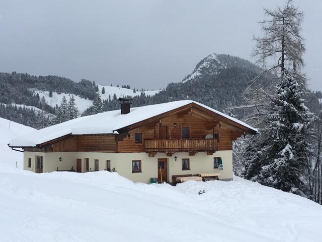 Einfamilienhaus im Landhausstil mit Giebel aus Holz