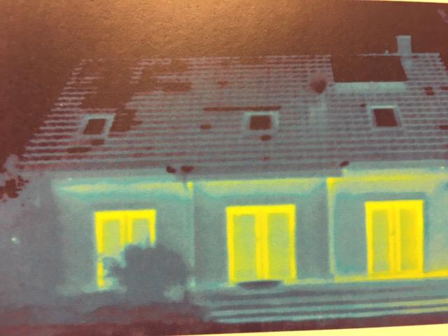Thermografie-Aufnahmen vom neuen Haus