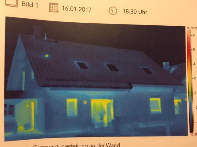 Wärmebild massives Haus - Wärmebildkamera