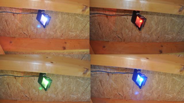 Farbwechsel Lampe für Garten und Aussenanlagen