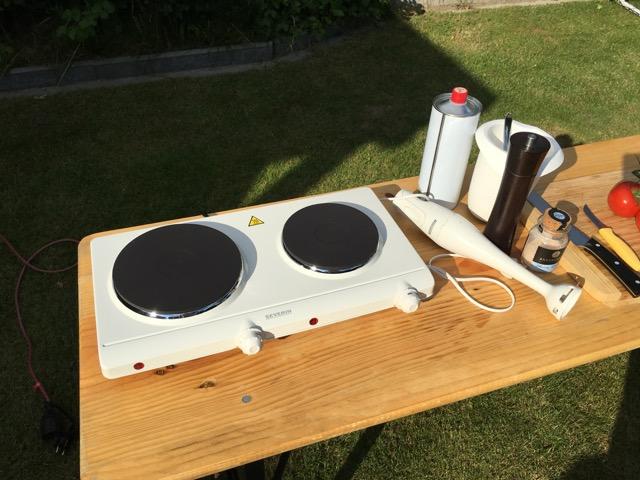 Elektro-Kochplatte - Herdplatte von Severin für den Garten