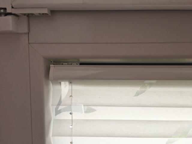 Befestigung Plissee am Fensterrahmen