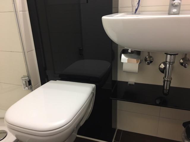 Position Toilettenpapierhalter im kleinen Bad