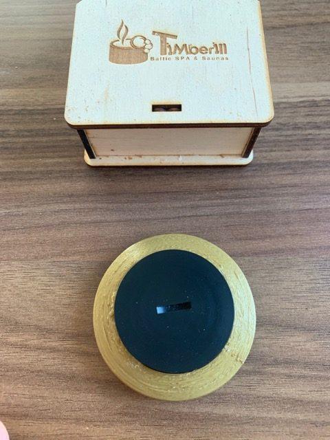 Rückansicht Bluetooth Thermometer von Timberin: TimberTemp