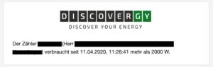 Smartmeter: Stromverbrauch - Benachrichtigung per Email-Alert bei Anstieg